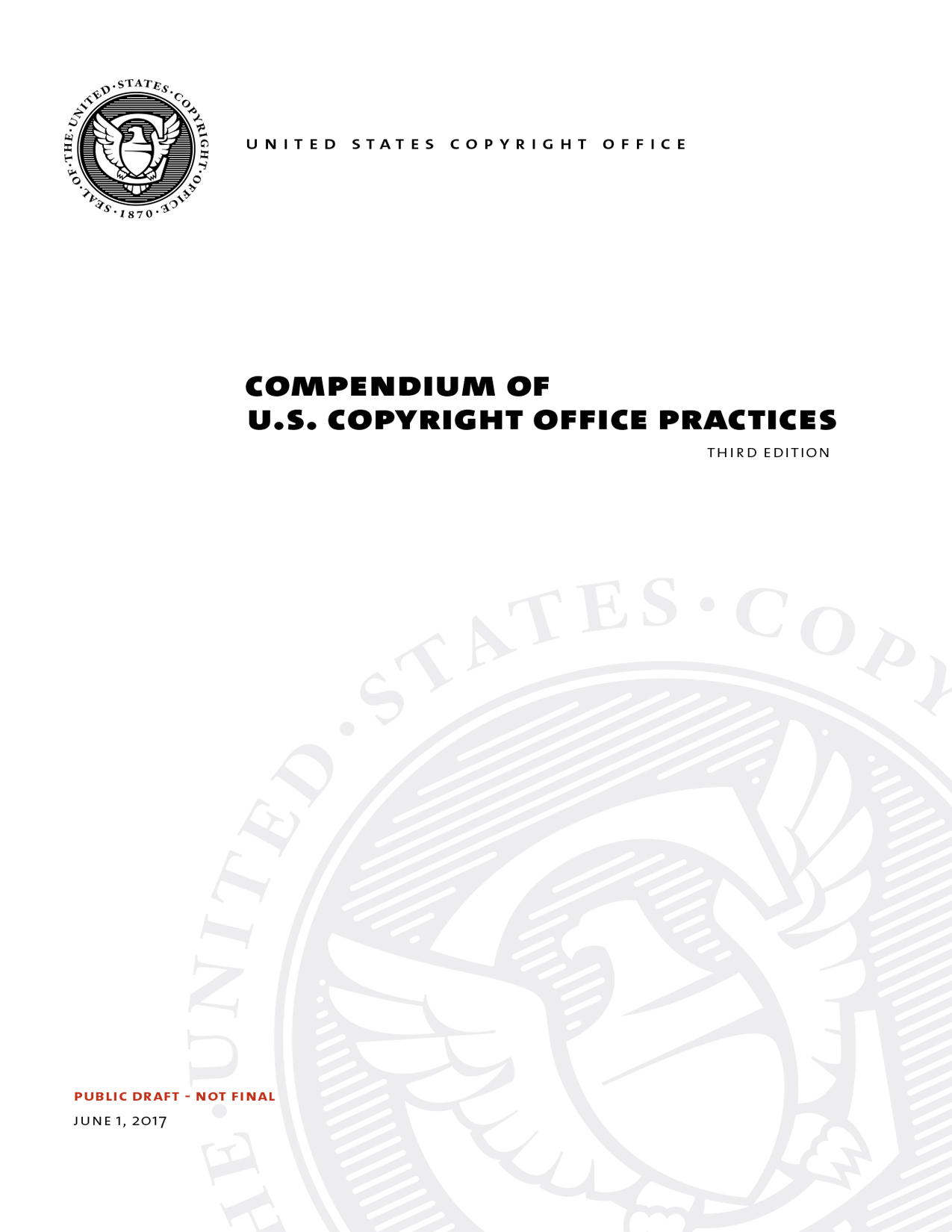 Compendium of U.S. Copyright Office Practices, Third Edition Cover Page