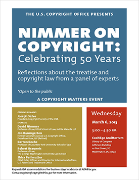 Nimmer on Copyright: Celebrating 50 Years
