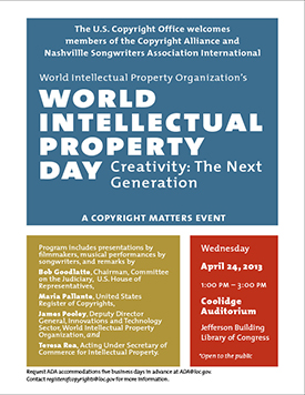 World Intellectual Property Day, Creativity: The Next Generation.