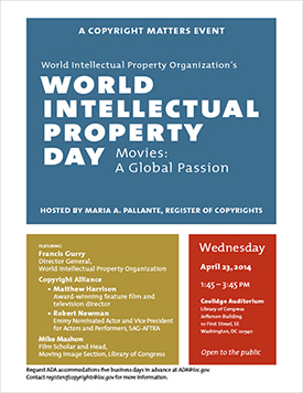 World Intellectual Property Day, Movies: A Global Passion.