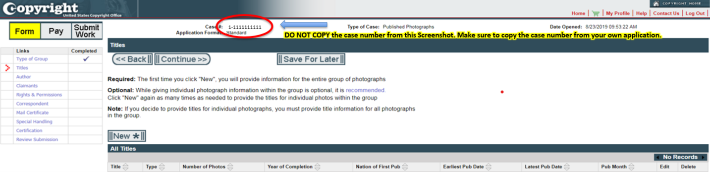 Group Registration For Published Photographs Us Copyright Office