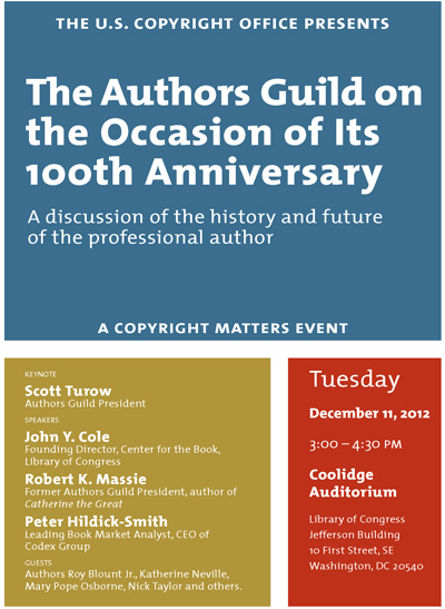 The Authors Guild on the Occasion of its 100th Anniversary